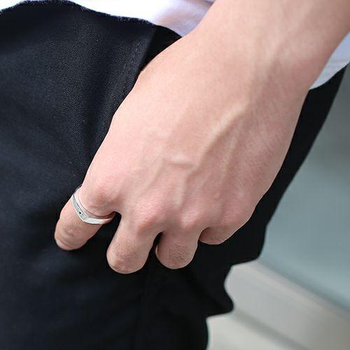 【JAM HOME MADE(ジャムホームメイド)】そんなバナナスライスリング SL / 指輪 メンズ レディース シルバー 925 人気 おすすめ ブランド ペア シンプル 太め 幅 ダイヤモンド