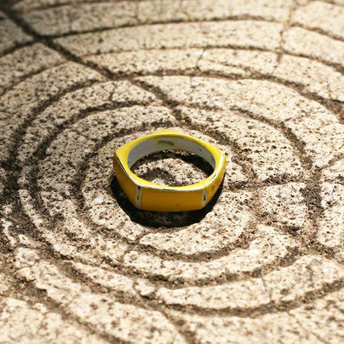 【JAM HOME MADE(ジャムホームメイド)】そんなバナナスライスリング SS -YELLOW- / 指輪 メンズ レディース シルバー 925 黄色 人気 おすすめ ブランド ペア シンプル 太め 幅 ダイヤモンド