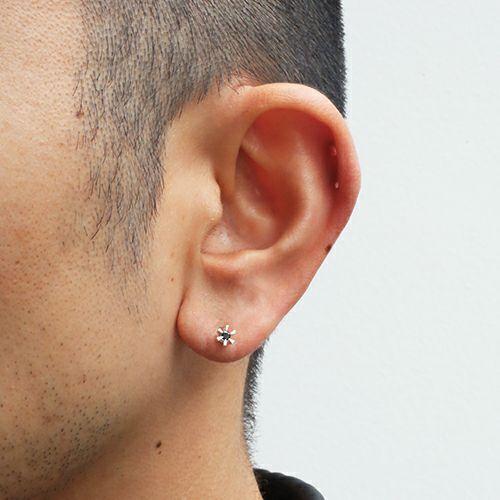 ピアス / クラシックブラックダイヤモンドピアス -SILVER- メンズ レディース シルバー 925 片耳 シンプル 人気 おすすめ ブランド プレゼント 誕生日 ギフト
