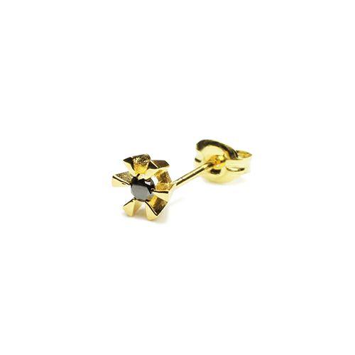 【JAM HOME MADE(ジャムホームメイド)】クラシックブラックダイヤモンドピアス -GOLD- メンズ レディース ゴールド 925 片耳 シンプル 人気 おすすめ ブランド プレゼント 誕生日 ギフト