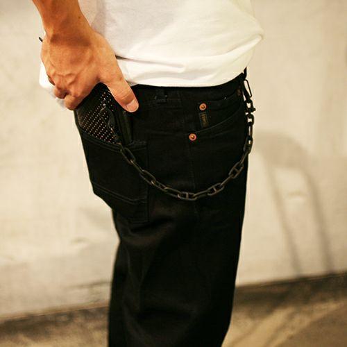 【JAM HOME MADE(ジャムホームメイド)】マリンチェーンウォレットチェーン S -NOIR- メンズ ブランド 人気 財布 チェーン シンプル パンク ロック ストリート 925 ブラック