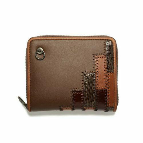 【ジャムホームメイド(JAMHOMEMADE)】グラム/glamb GAUDY ラウンドファスナー 二つ折り財布 - ブラウン