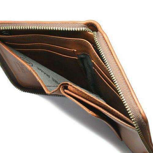二つ折り財布 / グラム/glamb GAUDY ファスナーショートウォレット -BROWN-