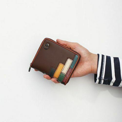 【ジャムホームメイド(JAMHOMEMADE)】グラム/glamb GAUDY ラウンドファスナー 二つ折り財布 - マルチ