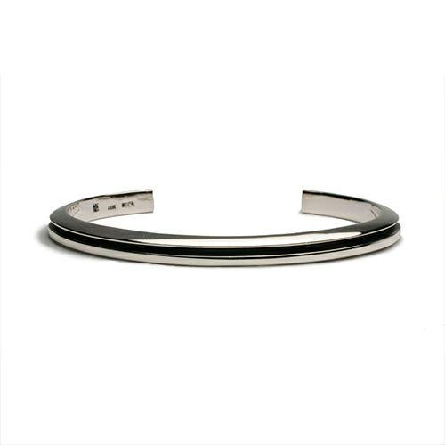 【JAM HOME MADE(ジャムホームメイド)】AB型 バングル -NEW TYPE- メンズ シルバー 925 ブランド 人気 おすすめ シンプル ブレスレット プレゼント ギフト ダイヤモンド