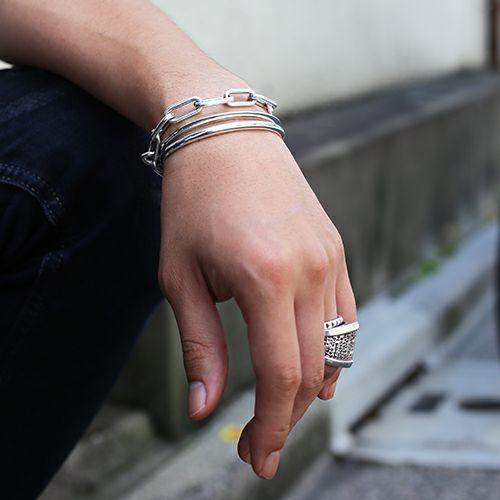 ブレスレット / O型 バングル -NEW TYPE- メンズ シルバー 925 ブランド 人気 おすすめ シンプル ブレスレット プレゼント ギフト ダイヤモンド