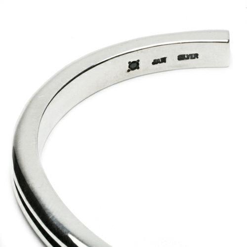 【JAM HOME MADE(ジャムホームメイド)】B型 バングル -NEW TYPE- メンズ シルバー 925 ブランド 人気 おすすめ シンプル ブレスレット プレゼント ギフト ダイヤモンド