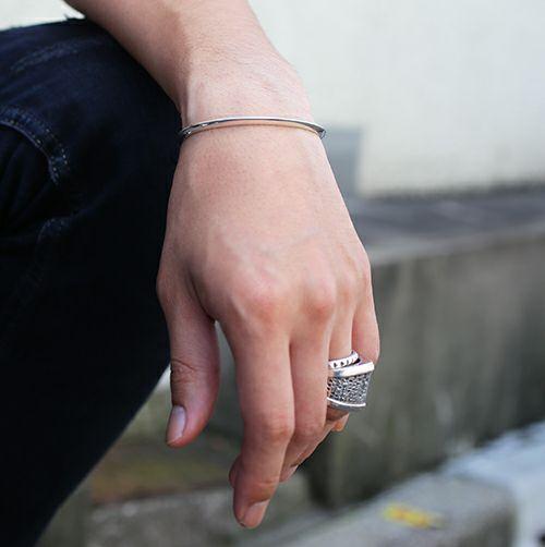 ブレスレット / A型 バングル -NEW TYPE- メンズ シルバー 925 ブランド 人気 おすすめ シンプル ブレスレット プレゼント ギフト ダイヤモンド