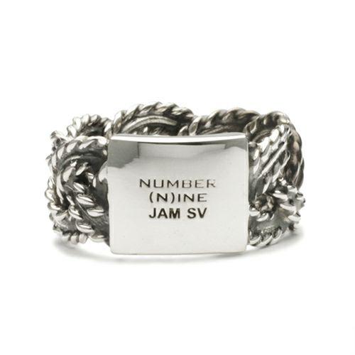 【JAM HOME MADE(ジャムホームメイド)】NUMBER(N)INE/ナンバーナイン ブレイディングリング M -SILVER- / 指輪 メンズ レディース シルバー ペア 人気 おすすめ ブランド ギフト プレゼント クリスマス 編込み シンプル