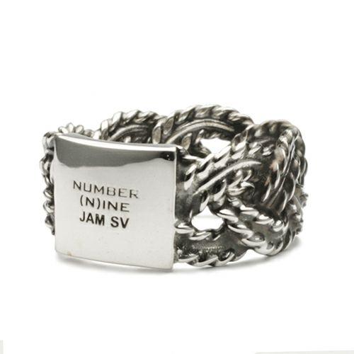 ナンバーナイン/NUMBER(N)INE ブレイディングリング M -SILVER- / 指輪