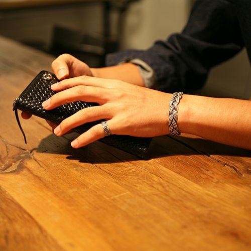 指輪 / NUMBER(N)INE/ナンバーナイン ブレイディングリング M -SILVER- メンズ レディース シルバー ペア 人気 おすすめ ブランド ギフト プレゼント クリスマス 編込み シンプル