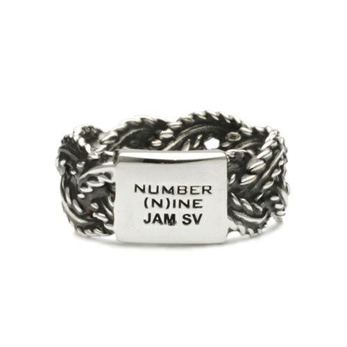 【JAM HOME MADE(ジャムホームメイド)】NUMBER(N)INE/ナンバーナイン ブレイディングリング S -SILVER- / 指輪 メンズ レディース シルバー ペア 人気 おすすめ ブランド ギフト プレゼント クリスマス 編込み シンプル
