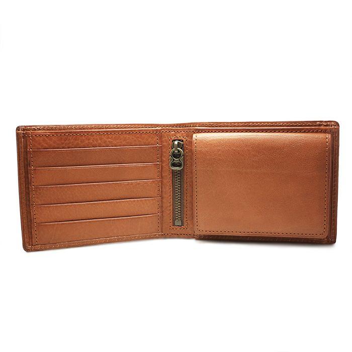 アリゾナレザーミディアムウォレット -BROWN- / 二つ折り財布 / 財布・革財布