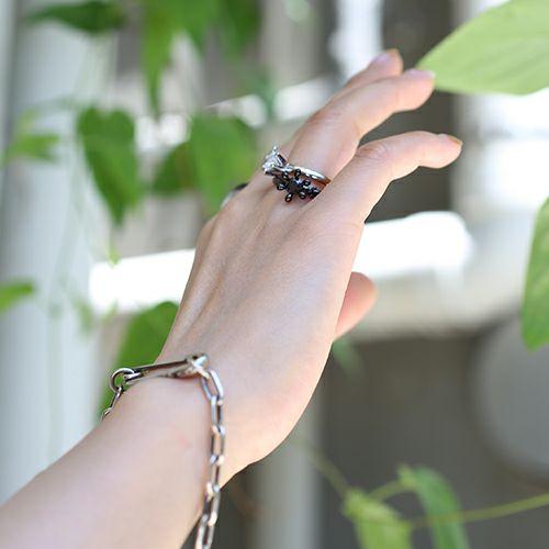【ジャムホームメイド(JAMHOMEMADE)】リアル & イミテイト クラシックリング - ブラック / 指輪