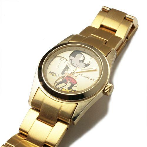 【ジャムホームメイド(JAMHOMEMADE)】シークレット ミッキー ウォッチ タイプ4 - ゴールド / 腕時計