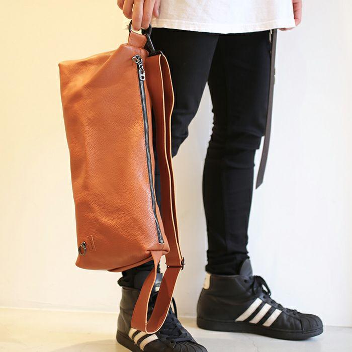アリゾナレザーワンショルダーバッグ L -BROWN- / リュック・バッグ