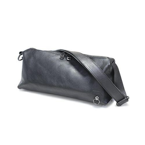 【ジャムホームメイド(JAMHOMEMADE)】アリゾナレザー ショルダー バッグ M - ブラック