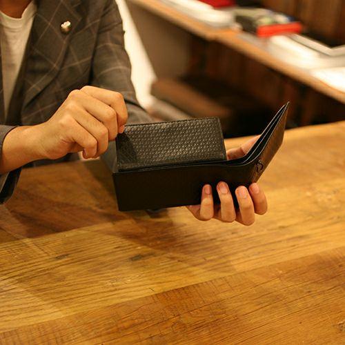 """ミッキー""""MICKEY""""アイコンセミロングウォレット / 二つ折り財布"""
