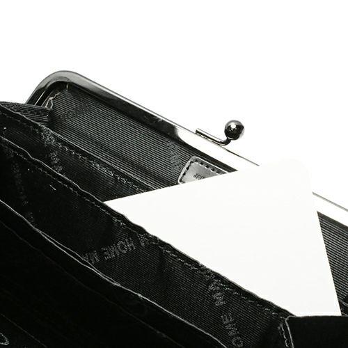 長財布 / 1月 誕生石 ガーネット がま口ロングウォレット -LaVish- メンズ ブランド 人気 おすすめ ブラック 使い始め レザー/革 シンプル プレゼント ギフト 誕生日 モダン