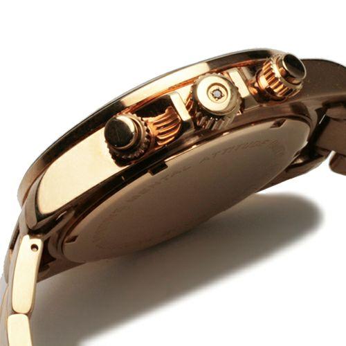 【JAM HOME MADE(ジャムホームメイド)】ダイヤモンドジャムウォッチ TYPE C -PINK GOLD- / 腕時計 メンズ 色 ピンクゴールド クロノグラフ クォーツ 10気圧 生活防水 20mm