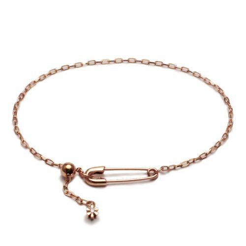 安全ピン(セーフティピン)ダイヤモンドブレスレット -K10PINK GOLD- / ブレスレット ・ バングル