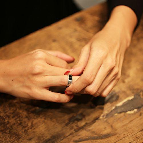 【ジャムホームメイド(JAMHOMEMADE)】ハッピーリング S - オニキス / 指輪