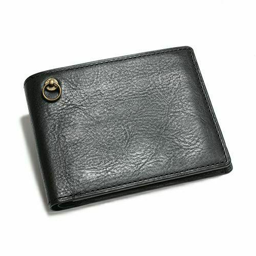 【ジャムホームメイド(JAMHOMEMADE)】アリゾナレザー 二つ折り財布 - ブラック / ミディアムウォレット