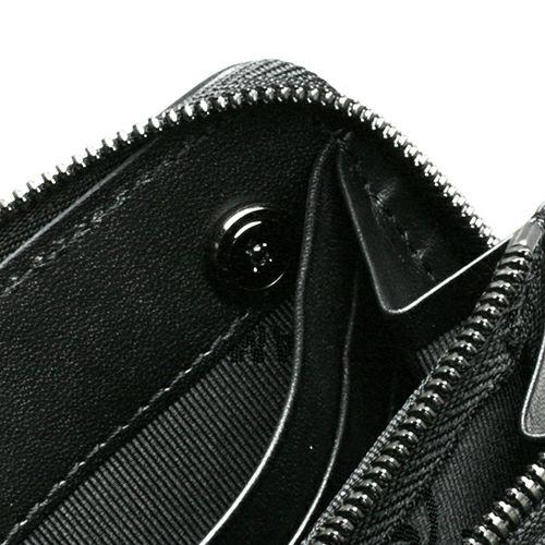長財布 / 11月 誕生石 トパーズ  ジャムニマルファスナーロングウォレット メンズ ブランド 人気 おすすめ ブラック 使い始め レザー/革 シンプル プレゼント ギフト 誕生日 モダン