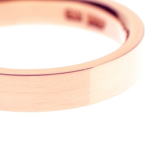 【JAM HOME MADE(ジャムホームメイド)】カットレスリング M -K18PG- / 結婚指輪・マリッジリング ウエディングリング