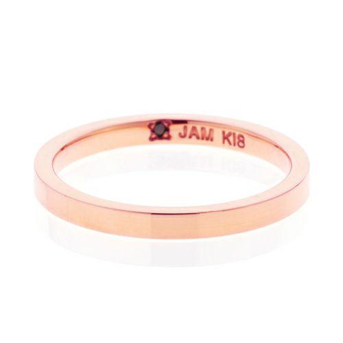 【JAM HOME MADE(ジャムホームメイド)】カットレスリング S -K18PG- / 結婚指輪・マリッジリング ウエディングリング