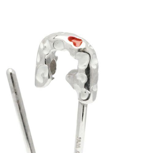 安全ピン(セーフティピン)ネックレス LEOPARD -SILVER- / ネックレス/レディース ネックレス
