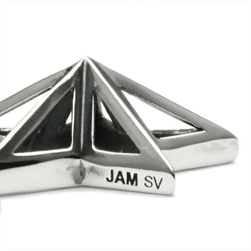 【JAM HOME MADE(ジャムホームメイド)】スケルトンスタースタッズネックレス メンズ レディース ペア シルバー チェーン 人気 ブランド おすすめ ギフト プレゼント 誕生日 シンプル