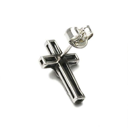 ピアス / スケルトンロザリオピアス メンズ レディース シルバー 925 十字架 クロス キリスト 片耳 人気 おすすめ ブランド プレゼント 誕生日 ギフト