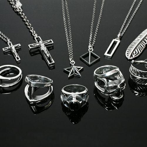 ネックレス / スケルトンロザリオネックレス S メンズ シルバー 925 チェーン クロス モチーフ 十字架 王道 人気 ブランド おすすめ プレゼント