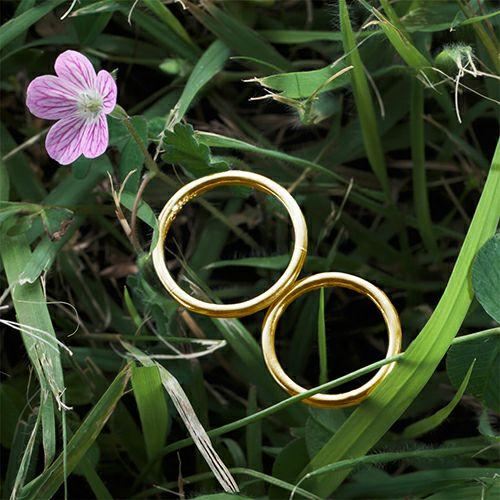 結婚指輪・マリッジリング ウエディングリング / 世界にひとつだけの指輪 -K18YG-