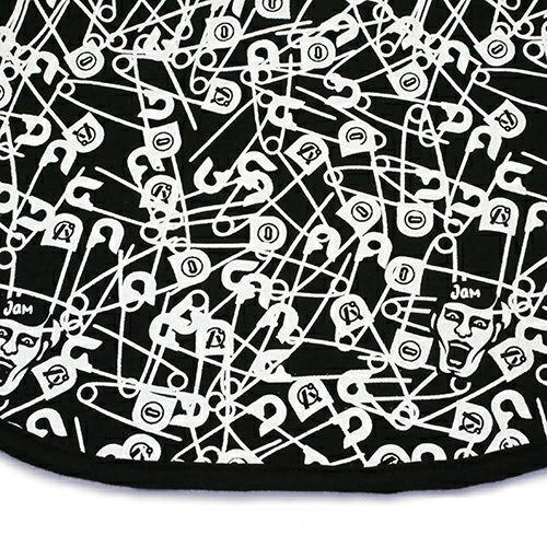"【JAM HOME MADE(ジャムホームメイド)】パンクドランカーズ/PUNK DRUNKERS セーフティピン BIG BIB ""OTONA"""