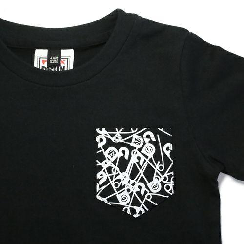 """衣料品トップス / パンクドランカーズ/PUNK DRUNKERS セーフティピン Tシャツ """"KODOMO"""" -BLACK-"""