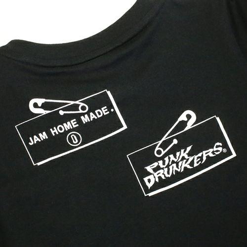 """【JAM HOME MADE(ジャムホームメイド)】パンクドランカーズ/PUNK DRUNKERS セーフティピン Tシャツ """"KODOMO"""" -BLACK-"""