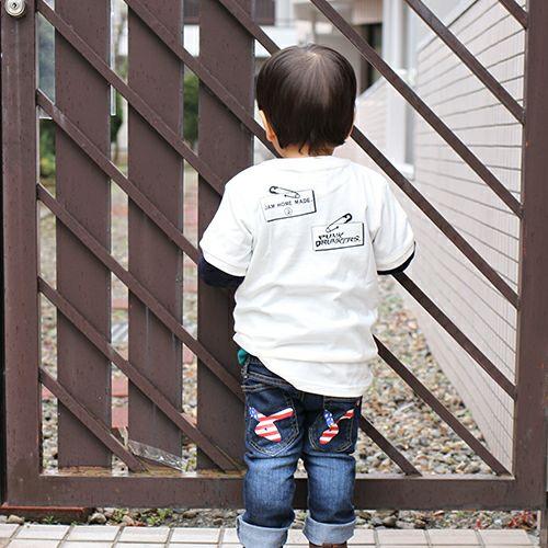 """【JAM HOME MADE(ジャムホームメイド)】パンクドランカーズ/PUNK DRUNKERS セーフティピン Tシャツ """"KODOMO"""" -WHITE-"""