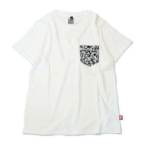 """【JAM HOME MADE(ジャムホームメイド)】パンクドランカーズ/PUNK DRUNKERS セーフティピン Tシャツ """"OTONA"""" -WHITE-"""