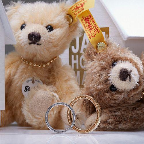 """結婚指輪・マリッジリング ウエディングリング / シュタイフ """"Stieff"""" マリッジベアリング S -K18 YELLOWGOLD-"""