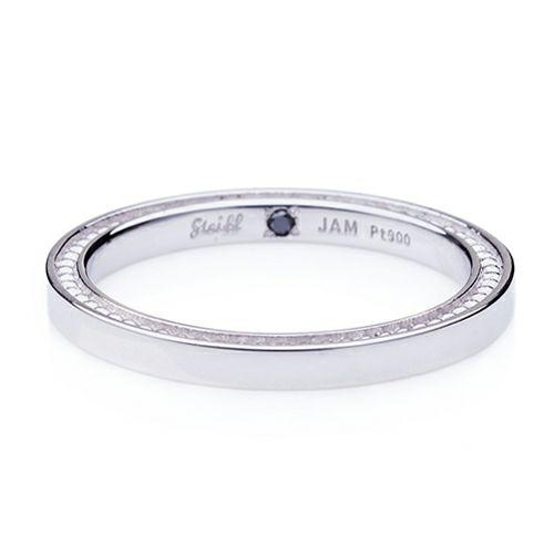 """【ジャムホームメイド(JAMHOMEMADE)】シュタイフ """"Stieff"""" マリッジベアリング M -PT900- / 結婚指輪・マリッジリング"""
