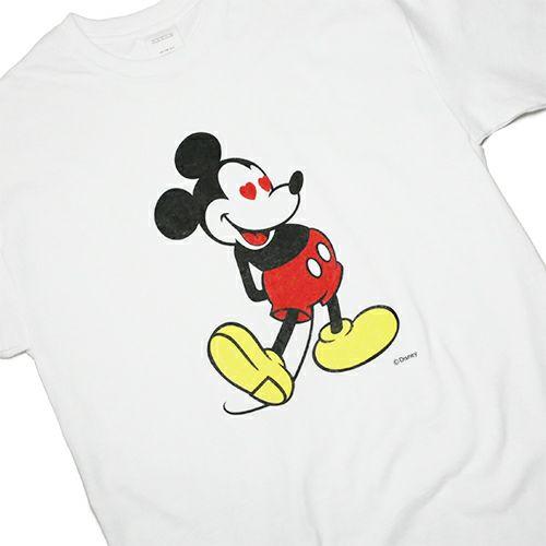"""【JAM HOME MADE(ジャムホームメイド)】ミッキー """"MICKEY"""" Tシャツ ラブ ミッキー/ -WHITE- メンズ レディース ユニセックス ホワイト ペア オーバーサイズ ハート DISNEY/ディズニー"""