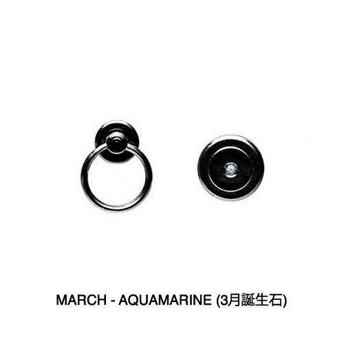 【JAM HOME MADE(ジャムホームメイド)】3月 誕生石 アクアマリン パンチングミディアムウォレット -LaVish- / 二つ折り財布 メンズ 革 ブラック 人気 おすすめ ブランド 使い始め ヌメ革 シンプル プレゼント ギフト 誕生日 機能性 ウォレットチェーン