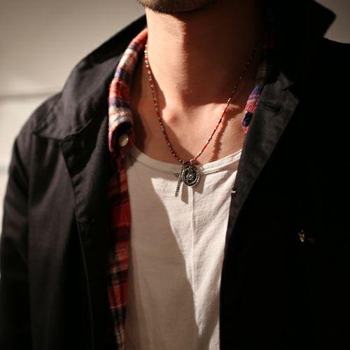【JAM HOME MADE(ジャムホームメイド)】グラム/glamb ロザリオ×シープヘッズマリア ネックレス -RED-