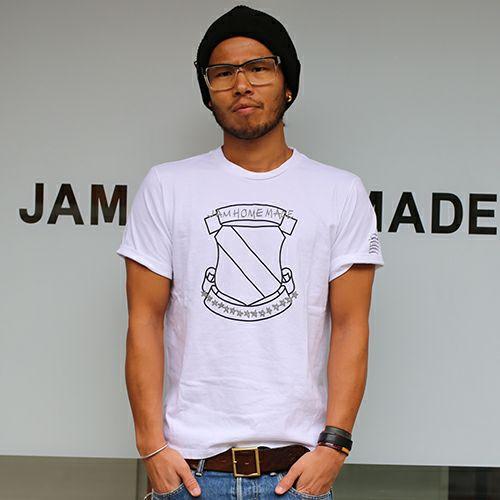 【JAM HOME MADE(ジャムホームメイド)】ナンバーナイン/NUMBER(N)INE エムブレム Tシャツ -WHITE-