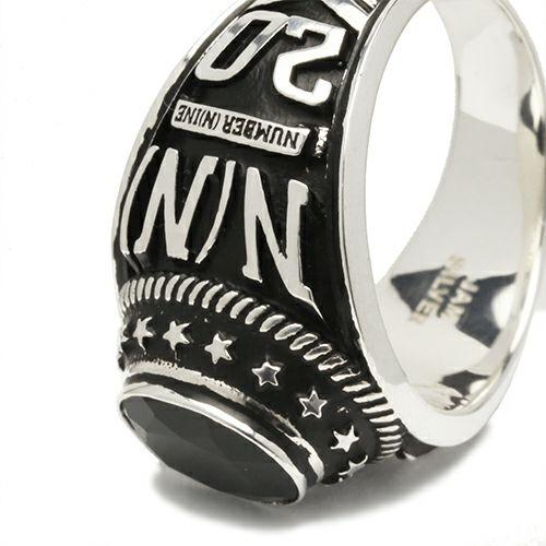 【JAM HOME MADE(ジャムホームメイド)】NUMBER(N)INE/ナンバーナイン カレッジグリング / 指輪 メンズ シルバー 925 人気 おすすめ ブランド 本場 アメリカ 職人 スクールリング