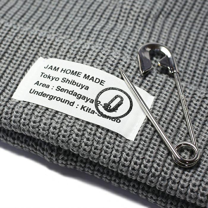 【JAM HOME MADE(ジャムホームメイド)】CA4LA/カシラ JAM SHOP ニットキャップ -GRAY- メンズ レディース ユニセックス 人気 おすすめ ブランド 帽子 コラボ オールシーズン対応
