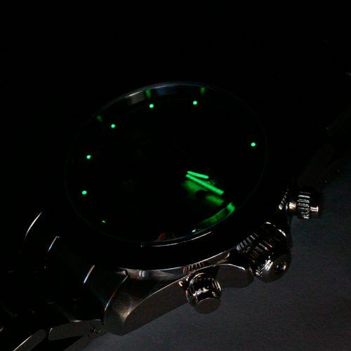 【JAM HOME MADE(ジャムホームメイド)】ダイヤモンドジャムウォッチ TYPE C -BLACK/SILVER- / 腕時計  メンズ 色 シルバー ブラック クロノグラフ クォーツ 10気圧 生活防水 20mm