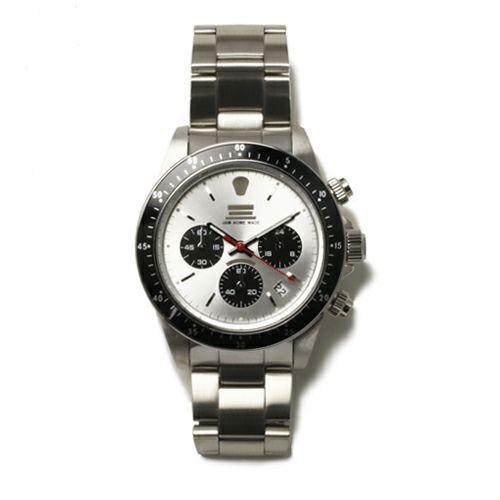 【JAM HOME MADE(ジャムホームメイド)】ダイヤモンドジャムウォッチ TYPE C -SILVER/SILVER- / 腕時計 腕時計 メンズ 色 シルバー クロノグラフ クォーツ 10気圧 生活防水 20mm